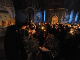 постриг в мантию иерея Александра Кузнецова с наречением имени Агафангел - 21 марта 2014 года