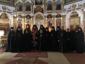 Братия в день монашеского пострига о. Давида - 22 апреля 2019 года