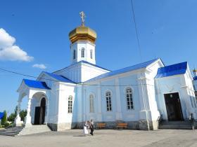 Северная сторона Вознесенского храма - лето 2013 год